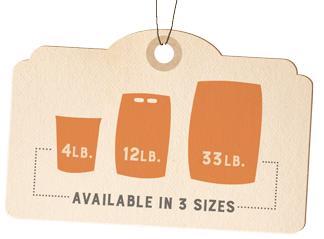 Turkey with Pumpkin bag sizes